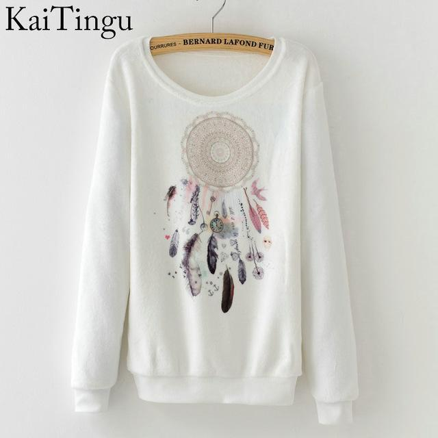 Women Colorful Printed Warm Sweatshirt-FZ0144-One Size-China-JadeMoghul Inc.