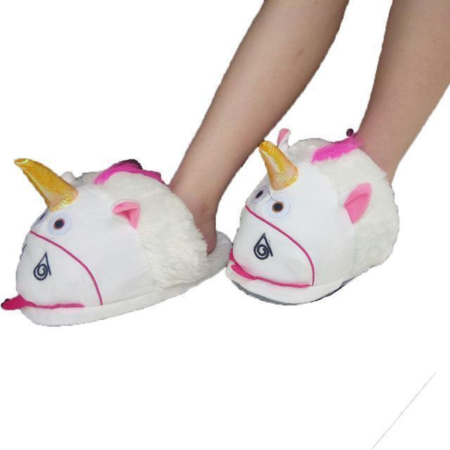 Women Cute Plush Unicorn Indoor House Slippers-picture color 4-One Size-JadeMoghul Inc.