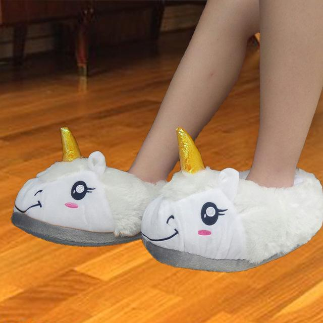 Women Cute Plush Unicorn Indoor House Slippers-picture color 5-One Size-JadeMoghul Inc.