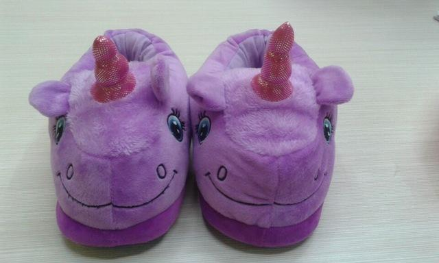 Women Cute Plush Unicorn Indoor House Slippers-picture color 8-One Size-JadeMoghul Inc.