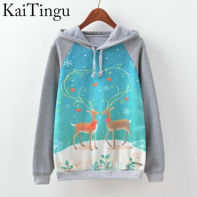 Women Fun Prints Colorful Hoodies-TPG512-L-JadeMoghul Inc.