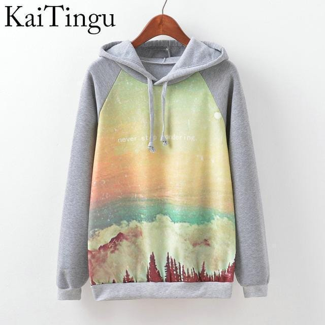 Women Fun Prints Colorful Hoodies-TPG516-L-JadeMoghul Inc.