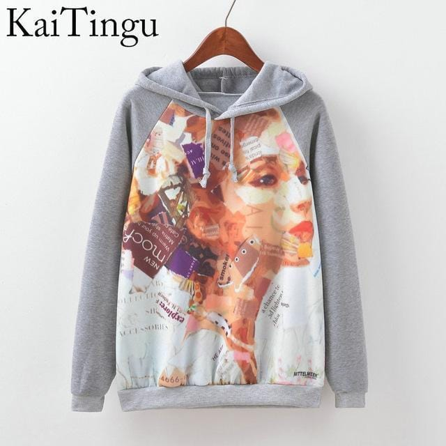 Women Fun Prints Colorful Hoodies-TPG519-L-JadeMoghul Inc.