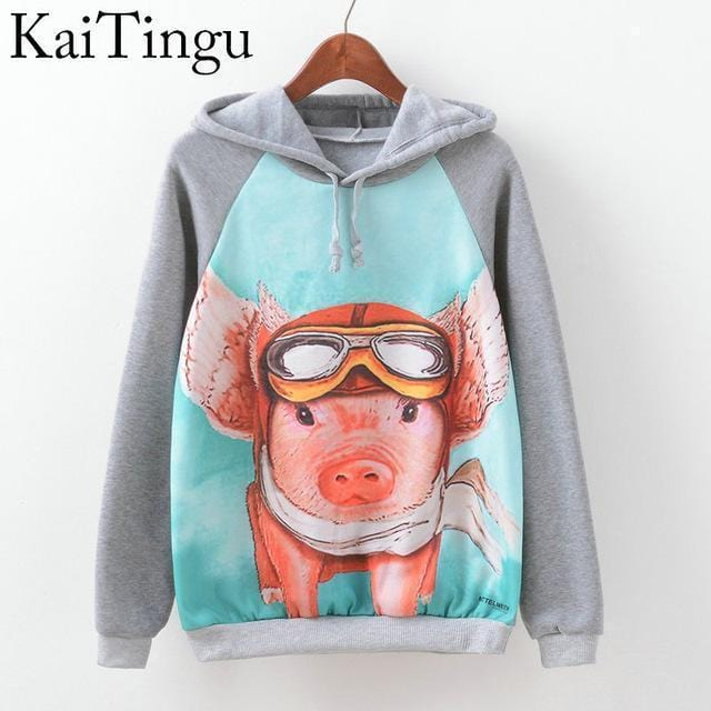 Women Fun Prints Colorful Hoodies-TPG594-L-JadeMoghul Inc.