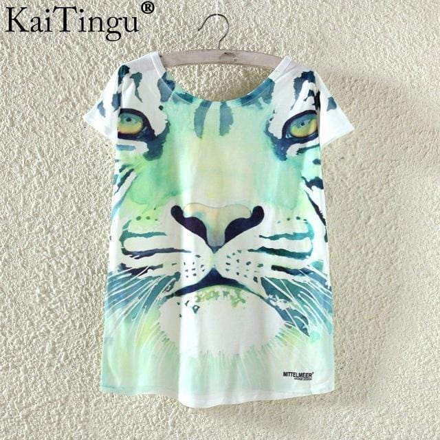 Women Funky Prints T-Shirt Top-TP796-L-JadeMoghul Inc.