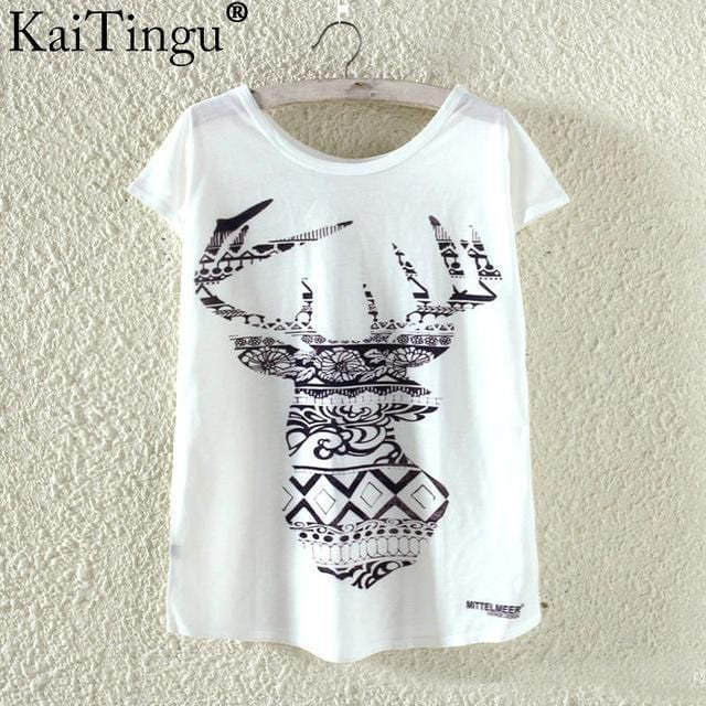 Women Funky Prints T-Shirt Top-TP823-L-JadeMoghul Inc.