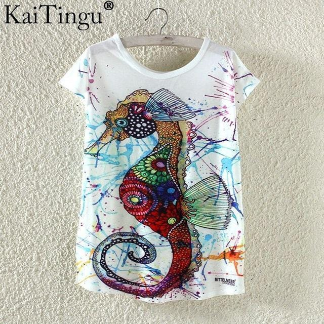 Women Funky Prints T-Shirt Top-TP824-L-JadeMoghul Inc.