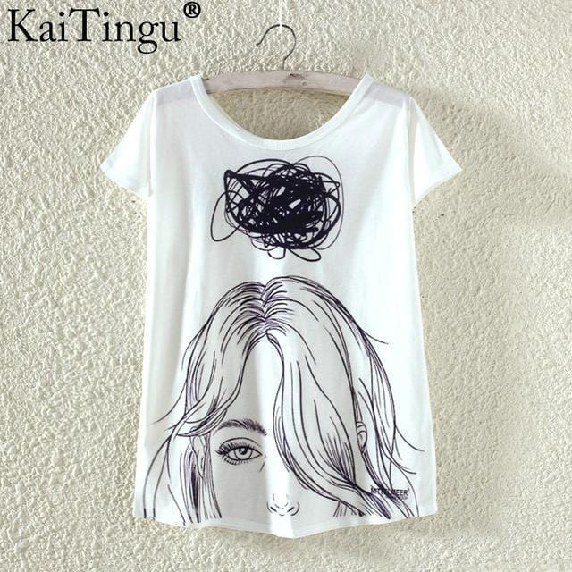Women Funky Prints T-Shirt Top-TP827-L-JadeMoghul Inc.