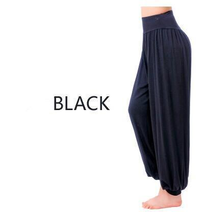 Women Jersey Harem Pants In Solid Colors-W00239 black-S-JadeMoghul Inc.