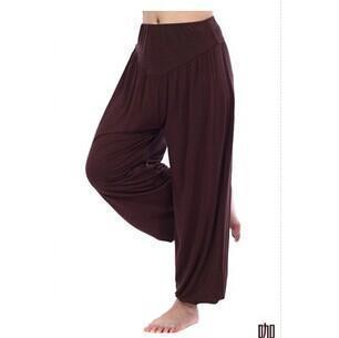 Women Jersey Harem Pants In Solid Colors-W00239 coffee-S-JadeMoghul Inc.