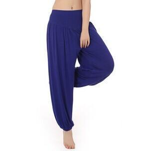 Women Jersey Harem Pants In Solid Colors-W00239 dark blue-S-JadeMoghul Inc.