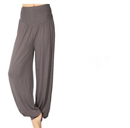 Women Jersey Harem Pants In Solid Colors-W00239 dark gray-S-JadeMoghul Inc.