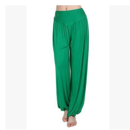 Women Jersey Harem Pants In Solid Colors-W00239 fruit green-S-JadeMoghul Inc.