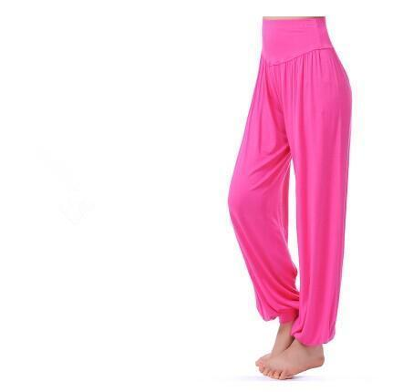 Women Jersey Harem Pants In Solid Colors-W00239 hot pink-S-JadeMoghul Inc.