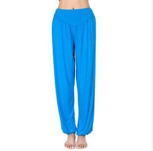 Women Jersey Harem Pants In Solid Colors-W00239 hu blue-S-JadeMoghul Inc.