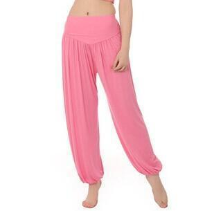 Women Jersey Harem Pants In Solid Colors-W00239 pink-S-JadeMoghul Inc.