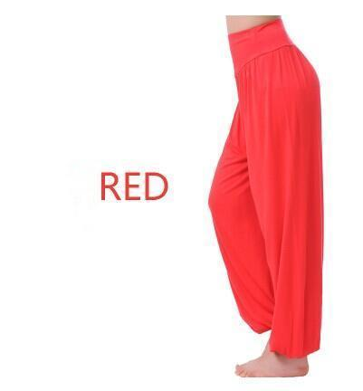 Women Jersey Harem Pants In Solid Colors-W00239 red-S-JadeMoghul Inc.