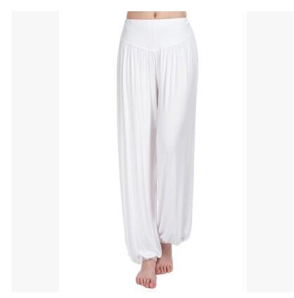 Women Jersey Harem Pants In Solid Colors-W00239 white-S-JadeMoghul Inc.