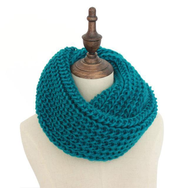 Women knit Infinity Snood Scarf-light green-JadeMoghul Inc.