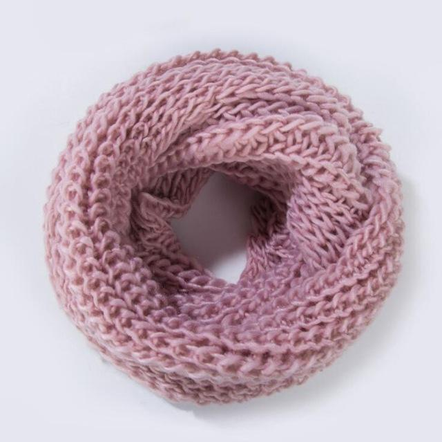 Women knit Infinity Snood Scarf-pink-JadeMoghul Inc.