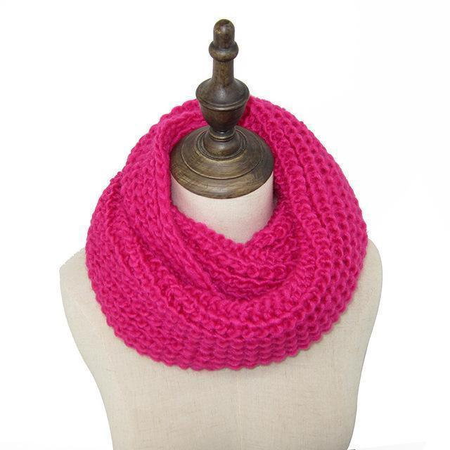 Women knit Infinity Snood Scarf-rose-JadeMoghul Inc.