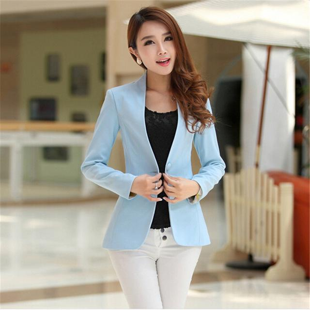 Women Light Weight Blazer In Candy Colors-light blue-S-JadeMoghul Inc.