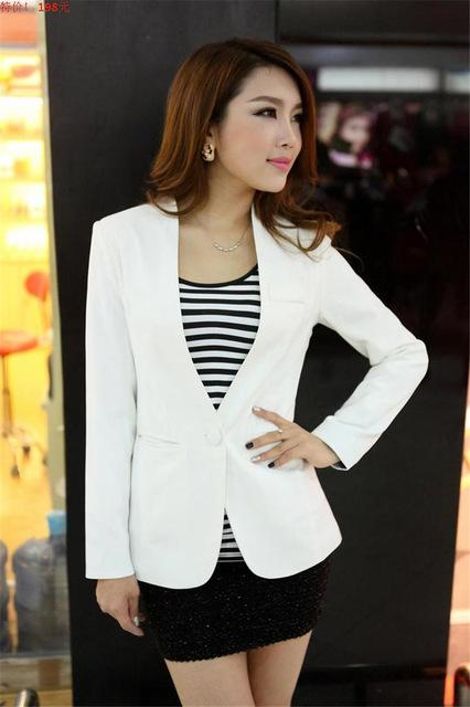 Women Light Weight Blazer In Candy Colors-white-S-JadeMoghul Inc.