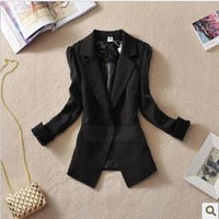 Women Light weight Candy color Blazer jacket With Lace Detailing-JadeMoghul Inc.