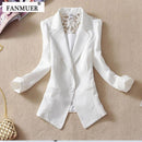 Women Light weight Candy color Blazer jacket With Lace Detailing-black-S-JadeMoghul Inc.