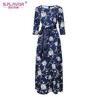 Women Long Dress - Print Dresses Long Floor-as picture_20-S_20-China_20-JadeMoghul Inc.