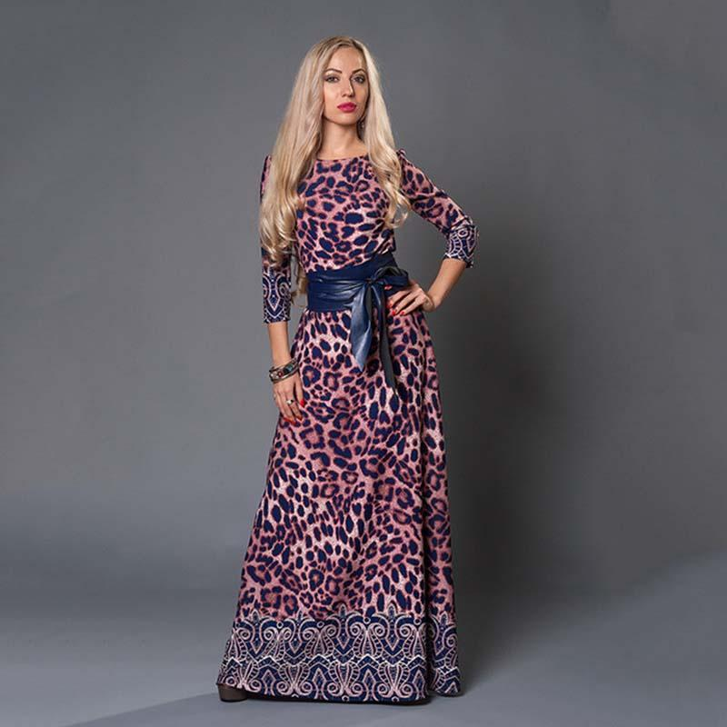 Women Long Dress - Print Dresses Long Floor-as picture_50-S_50-China_50-JadeMoghul Inc.
