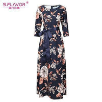 Women Long Dress - Print Dresses Long Floor-as picture_60-S_60-China_60-JadeMoghul Inc.
