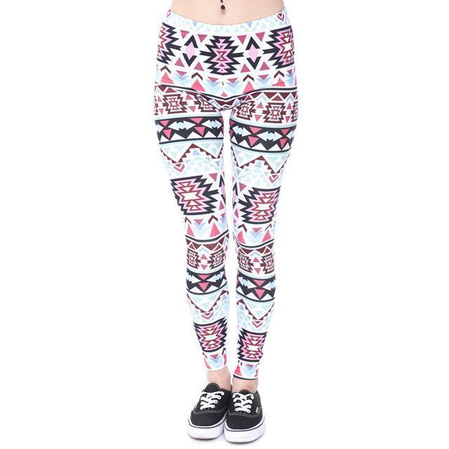 Women Mandala/Aztec/Geometric printed Leggings/Workout pants-lga40545-One Size-JadeMoghul Inc.