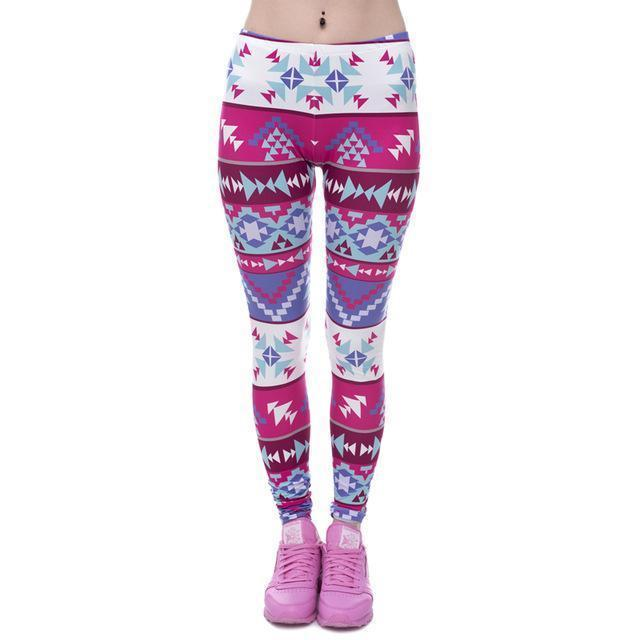 Women Mandala/Aztec/Geometric printed Leggings/Workout pants-lga40546-One Size-JadeMoghul Inc.