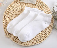 Women / Men Unisex 10 Pairs Cotton Ankle Socks-White-One Size-JadeMoghul Inc.