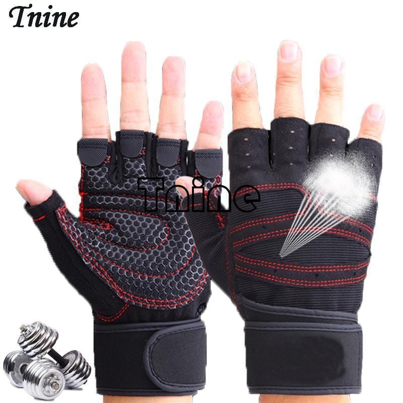 Women / Men Unisex Fitness training Weight Gloves-Black-M-JadeMoghul Inc.