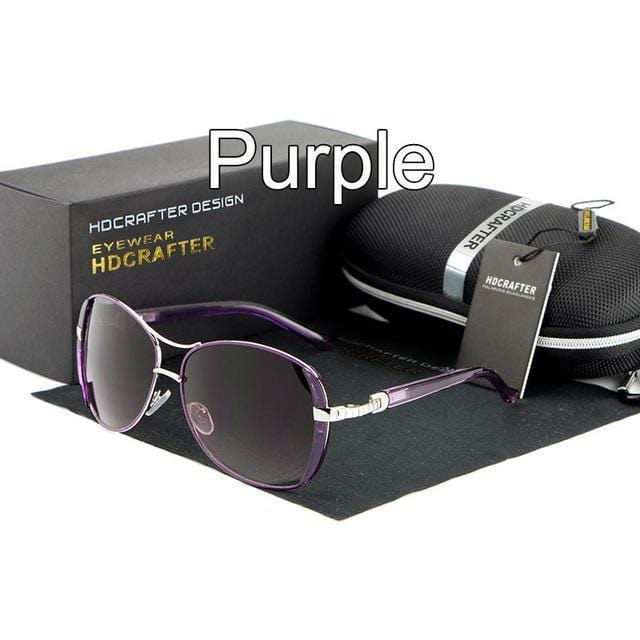 Women Oval Shaped Colored Metal frame Sunglasses With 100% UV 400 Protection-Purple-China-JadeMoghul Inc.