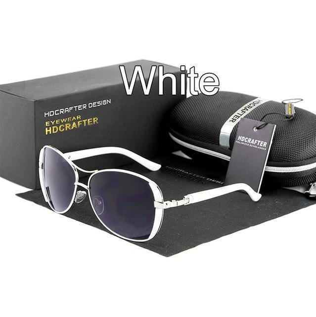 Women Oval Shaped Colored Metal frame Sunglasses With 100% UV 400 Protection-White-China-JadeMoghul Inc.