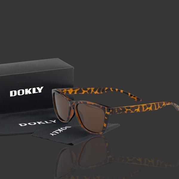 Women Polarized Reflector Square Sunglasses With 100% UV 400 Protection-dokly14-no package-JadeMoghul Inc.