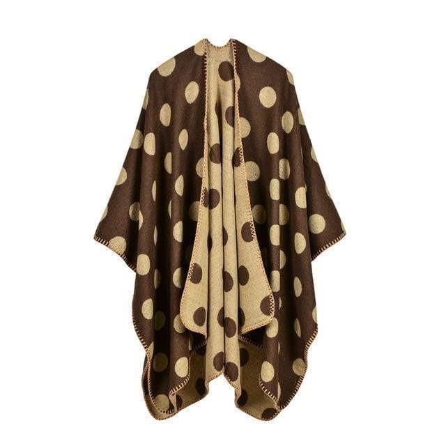 Women Polka Dot Cape /Poncho Wrap-4-JadeMoghul Inc.