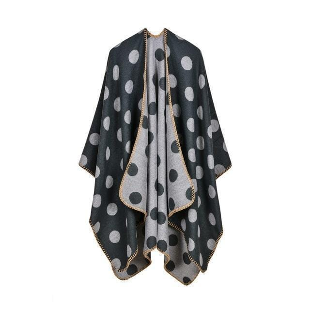 Women Polka Dot Cape /Poncho Wrap-5-JadeMoghul Inc.