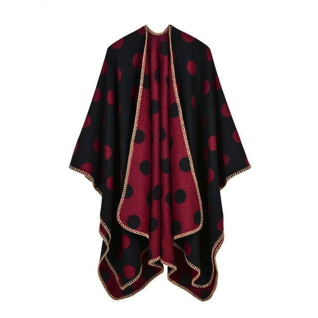 Women Polka Dot Cape /Poncho Wrap-6-JadeMoghul Inc.