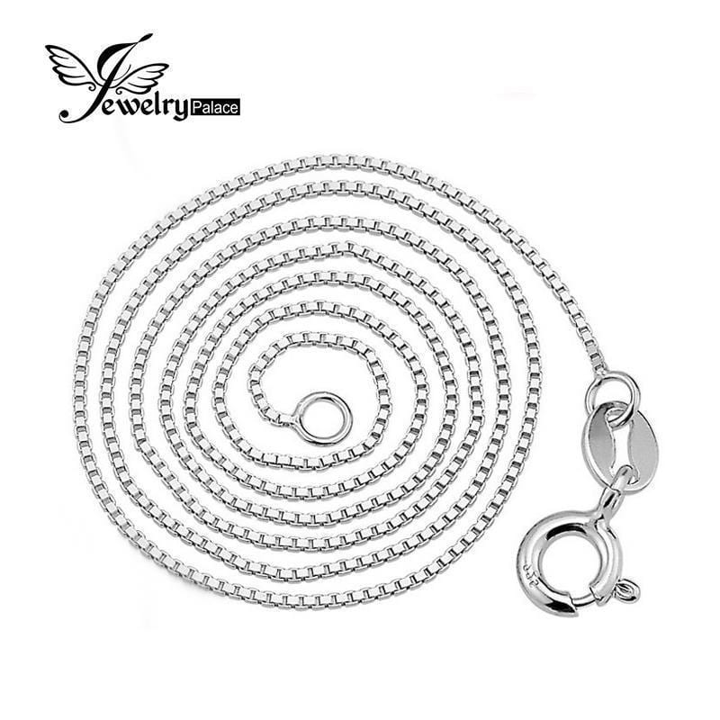 Women Pure 925 Solid Sterling Silver 1mm Box Chain-40 M-JadeMoghul Inc.