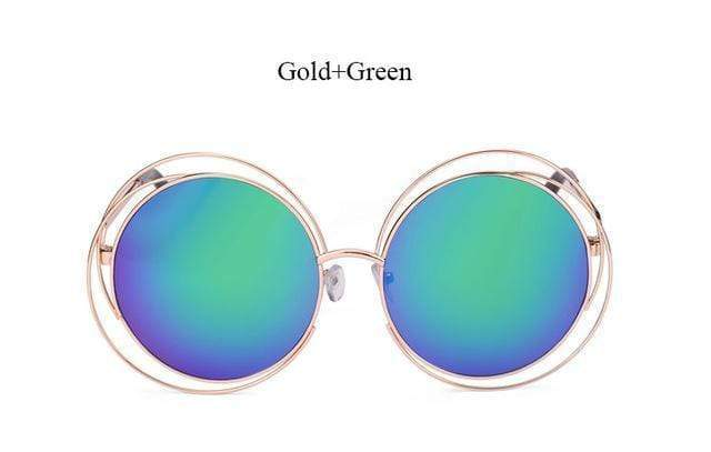 Women Round Shaped Reflector Sunglasses With 100 % UV 400 Protection AExp
