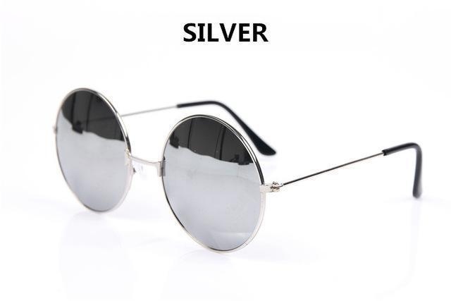 Women Round Shaped Sunglasses In Metal Alloy Frame With 100% UV 400 Protection-white Silver-JadeMoghul Inc.
