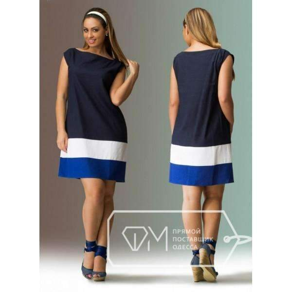 Women's Plus Above-knee Summer Dress AExp
