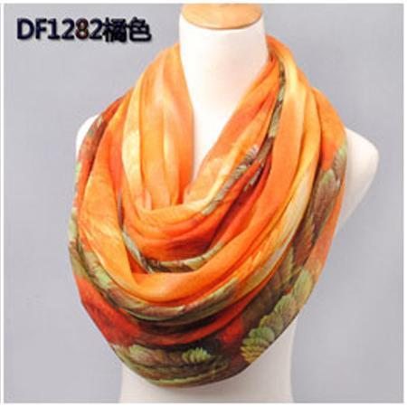 Women Swiss Voile Printed Summer Wrap Around Scarf Wrap AExp