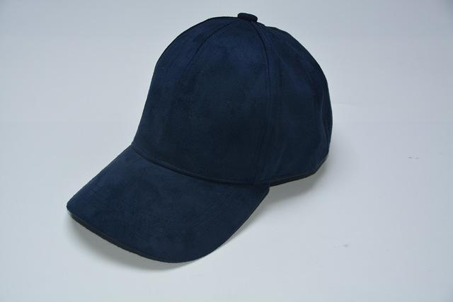 Women Velvet/ Suede base ball Hat with Adjustable Strap-Blue-JadeMoghul Inc.