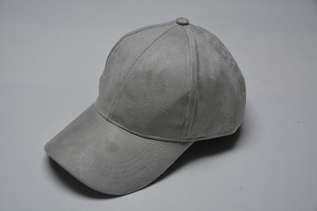 Women Velvet/ Suede base ball Hat with Adjustable Strap-Gray-JadeMoghul Inc.