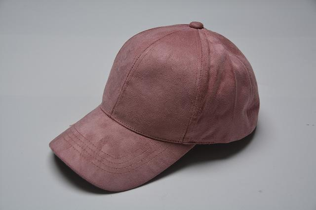 Women Velvet/ Suede base ball Hat with Adjustable Strap-pink lady-JadeMoghul Inc.